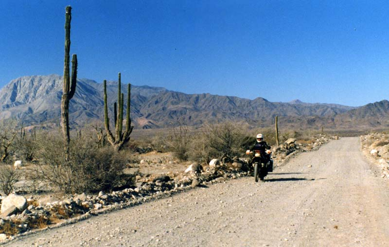 Sam on Baja Track