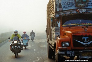 Dawn in the steamy heat of the Grand Trunk Road