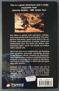 1st Edition Into Africa Rear Cover