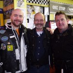 With James Owens and Danny Taylor at the Ace Cafe 2011
