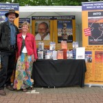Birgit and I having just set up in the town of Calne