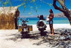 Wild camping in Baja California on the Sea of Cortez